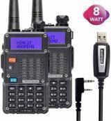 2PC Baofeng Radios UV-5R MK4 8 Watt Max Power and Programming Cable USA Warranty