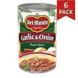 Paquete de 6: Salsa Ajo y Cebolla Del Monte 24 Onzas