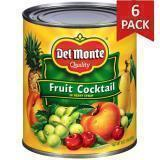 Paquete de 6: Cóctel de Frutas Del Monte 29 onzas