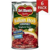 Paquete de 6: Salsa Con Hierbas Italiana Del Monte 24 Onzas