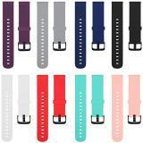TECKMICO 8PCS Bands Replacement for Amazfit Bip Smartwatch,20mm Quick Release Watch Soft Silicone Bands for Amazfit Bip Band women men (8-PACK, Buckle