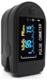 OXIMETRO DE PULSO. Diseñado para medir la frecuencia del pulso y la saturación funcional de oxígeno (SpO 2) a través de los dedos del paciente.
