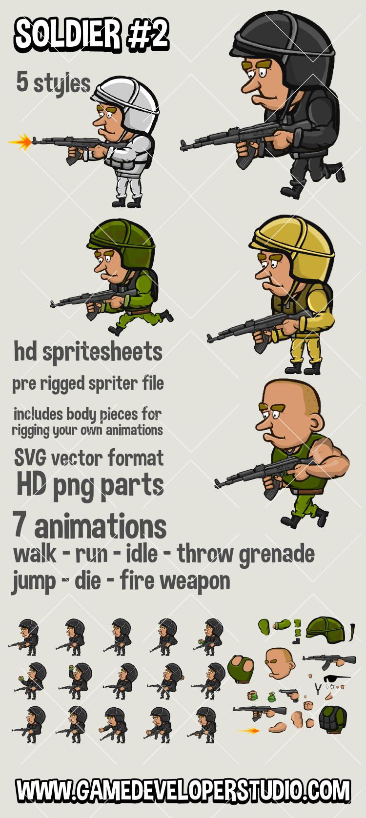2d soldier sprite