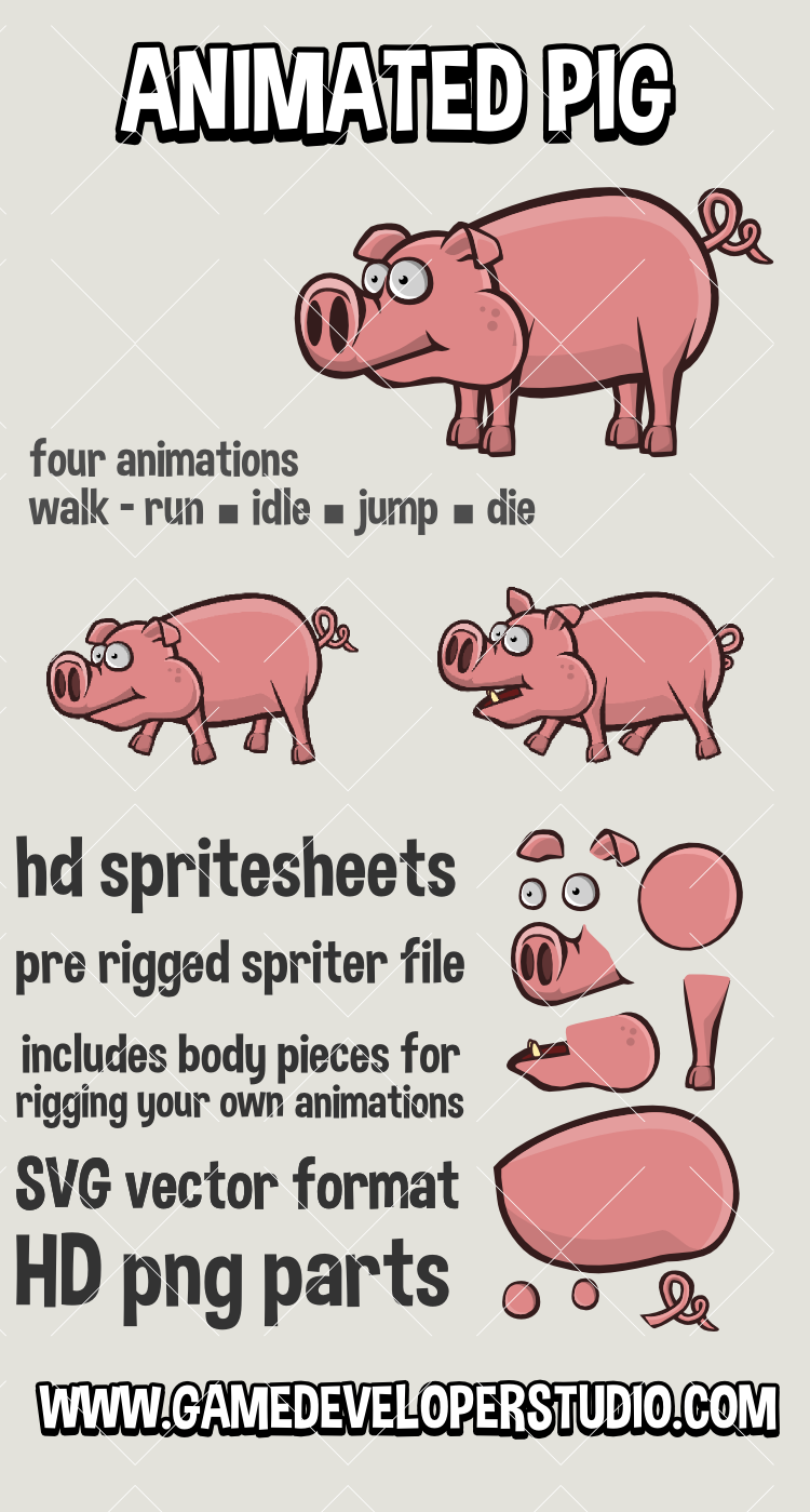 Animated pig