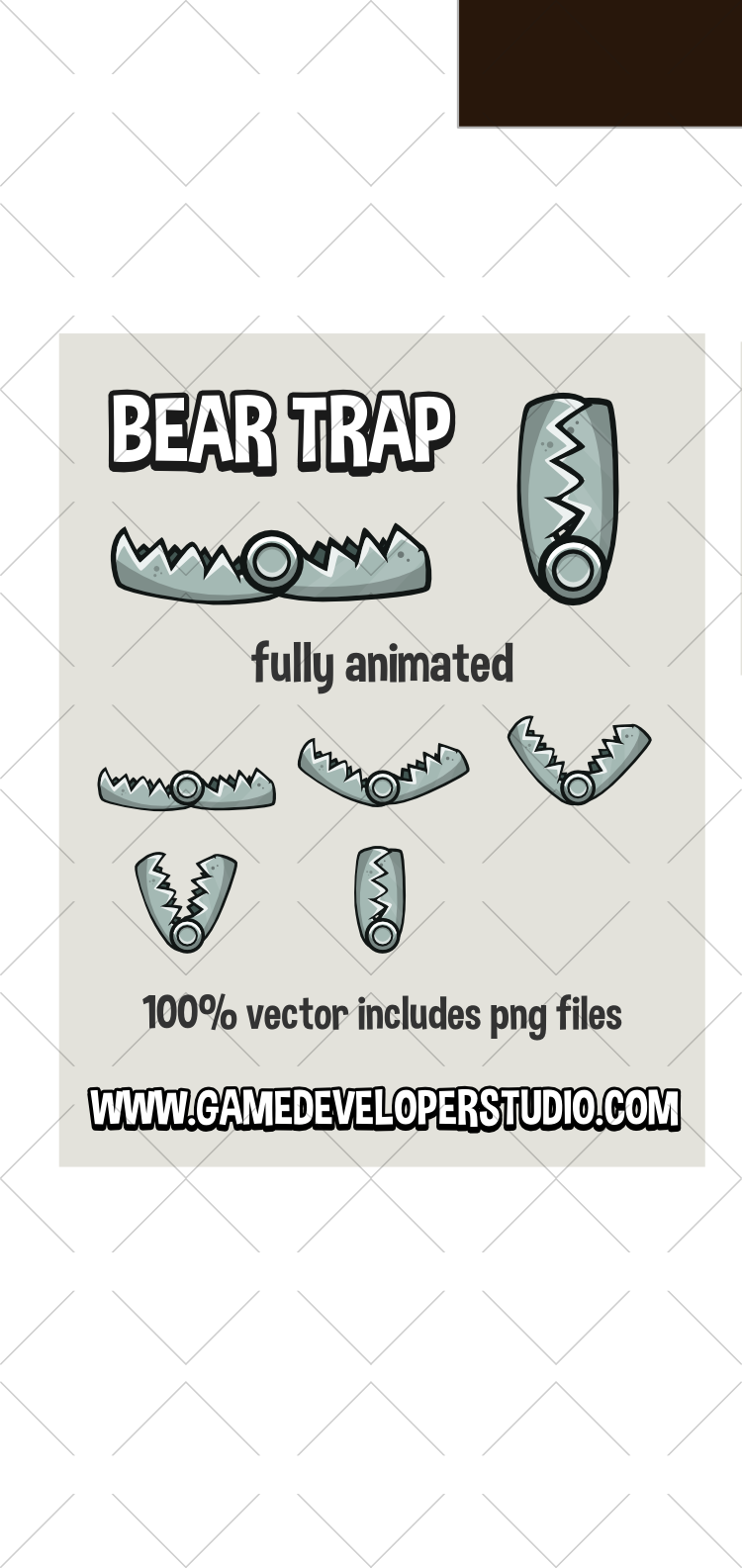 Animated snapping bear trap