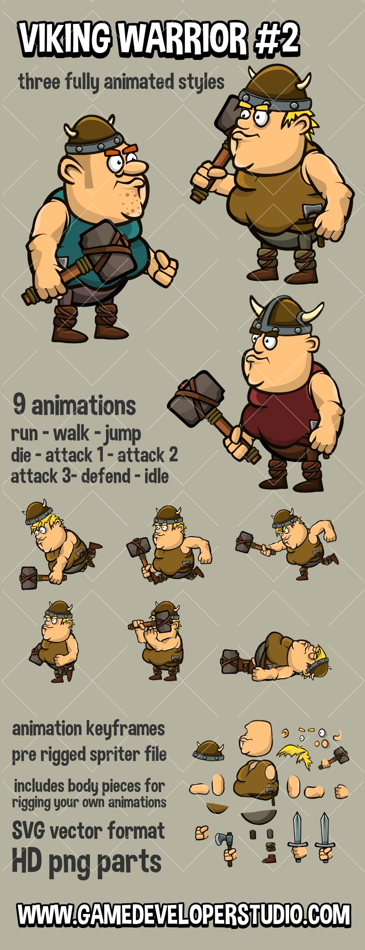 Viking character game asset