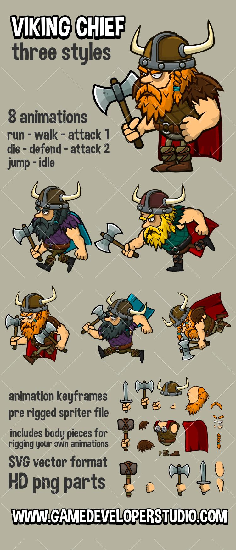 Viking cheif warrior