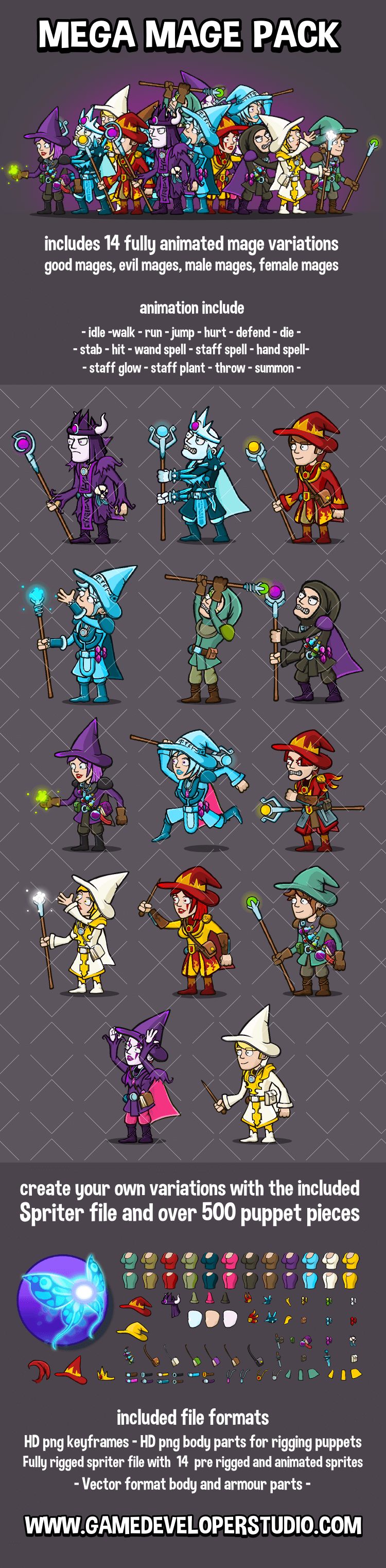 High quality 2d Game assets and 2d game sprites