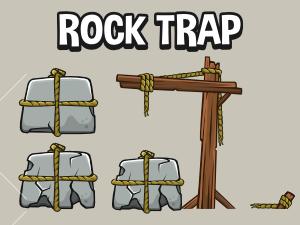 2d game hazzard falling stone trap