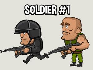 2d soldier game sprite
