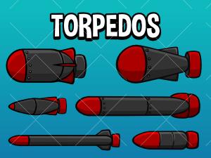 2d torpedo game assets