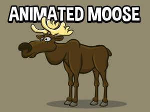 Animated moose game sprite
