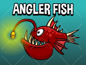 Animated angler fish game asset
