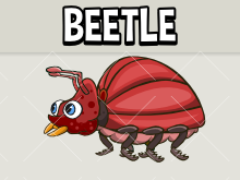 Animated beetle