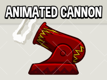 Animated cannon