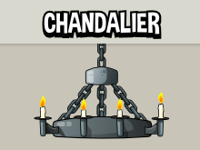 Animated chandalier