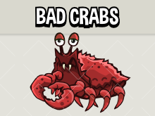 Animated crab sprite for 2d games