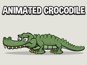 Animated crocodile game asset