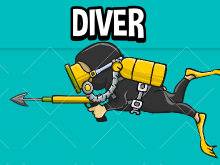 Animated diver sprite