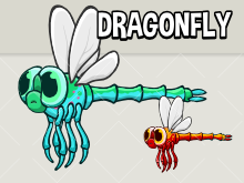 Animated dragon fly