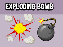 Animated exploding bomb