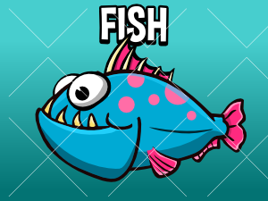 Animated fish game asset