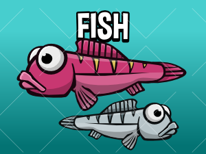 Animated fish gme asset