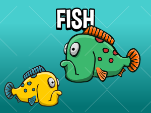 Animated fish sprite