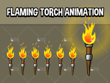 Animated flaming torch
