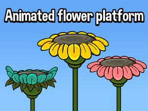 Animated flower platform 2d game asset