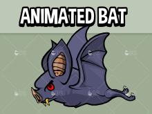 Animated flying bat