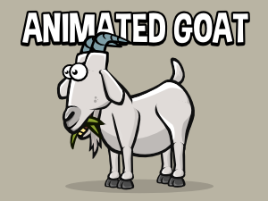 Animated goat 2d game asset
