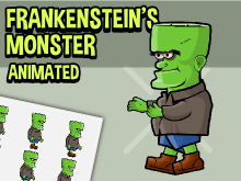 Animated monster character