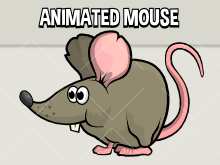 Animated mouse 2d game asset