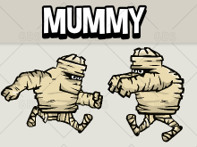 Animated mummy character