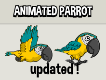 Animated parrot sprite