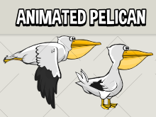 Animated pelican