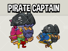 Animated pirate captain three versions