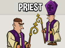 Animated priest sprite