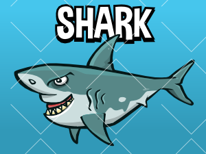 Animated shark sprite