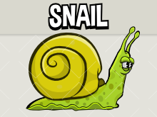 Animated snail
