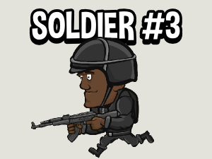 Animated soldier game sprite