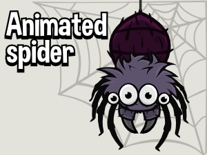 Animated spider game sprite