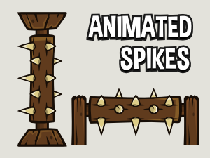 Animated spike obstacle