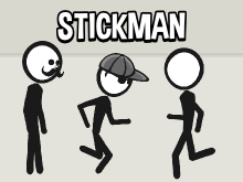 Animated stickman and stick girl