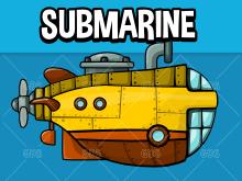 Animated submarine