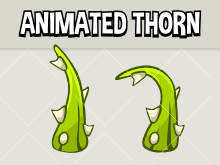 Animated thorn branch