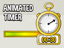 Animated timer