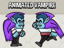 Animated vampire 2d game asset
