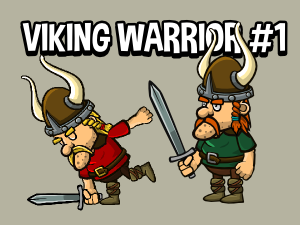Animated viking game sprite one